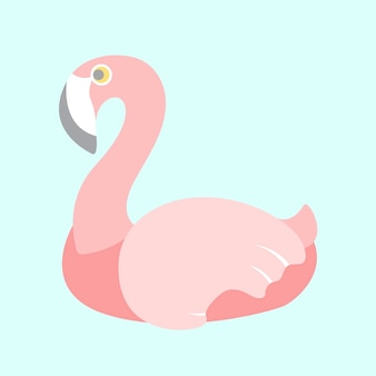 Pastel flamingo vector