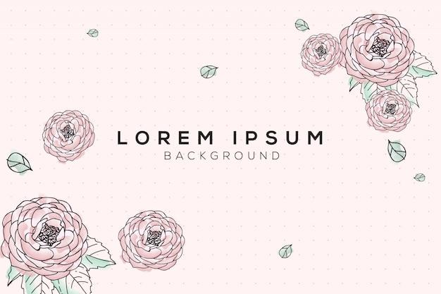 Pastel flora ontwerp achtergrond
