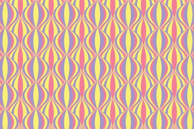 Pastel geometrische groovy naadloze patroon