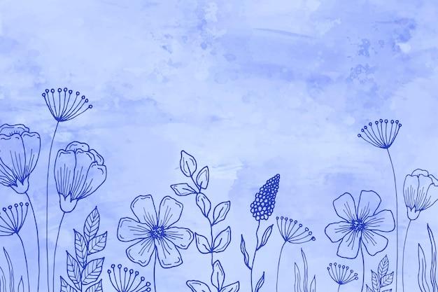 Pastel hand getekende achtergrond