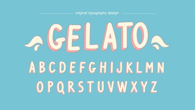Pastel kleuren cartoon typografie
