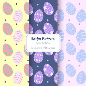 Pastel kleuren paasei patronen