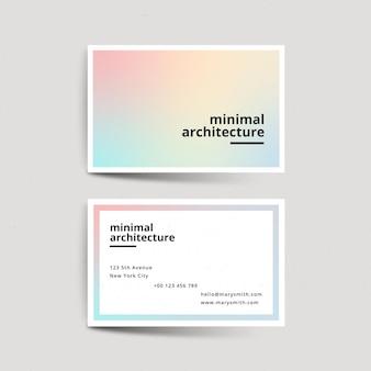 Pastel kleurovergang bedrijf kaartsjabloon