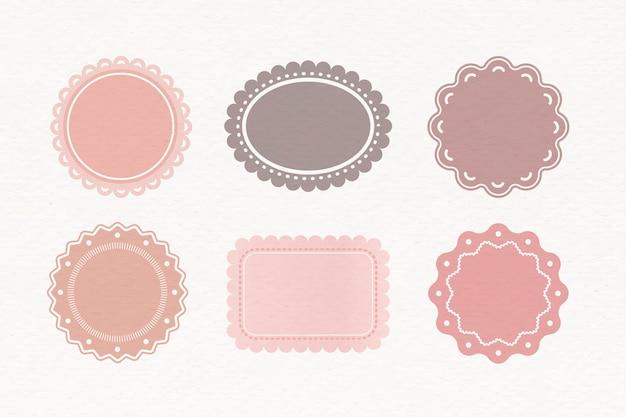 Pastel-labels ingesteld