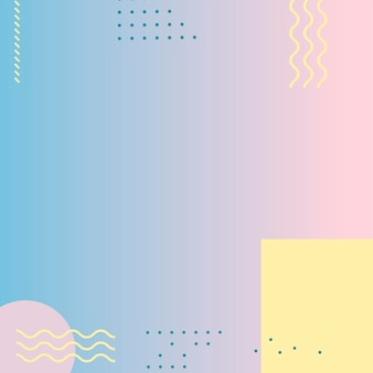 Pastel memphis instagram-advertentieachtergrond