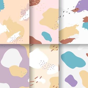 Pastel memphis patroon ontwerp vector