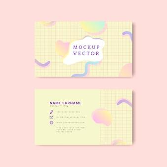 Pastel naam kaart mockup vector