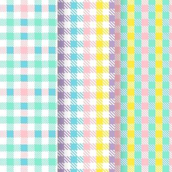Pastel pastel patroon set