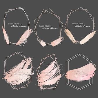 Pastel penseelstreken kader