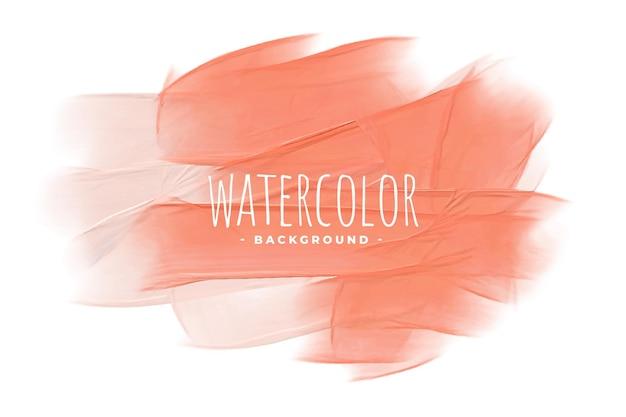 Pastel perzik roze oranje aquarel textuur achtergrond