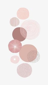 Pastel roze ronde patroon achtergrond