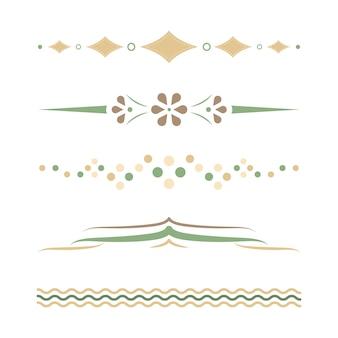 Pastel scheidingslijnen ontwerpcollectie