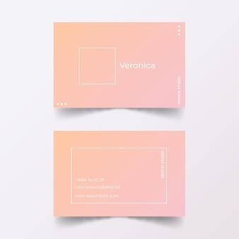 Pastel verloop visitekaartjes