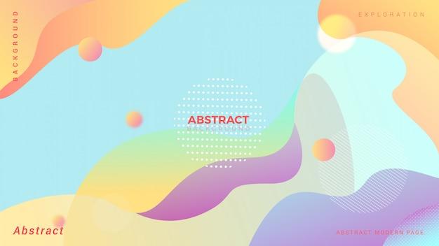 Pastel vloeibare abstracte achtergrond