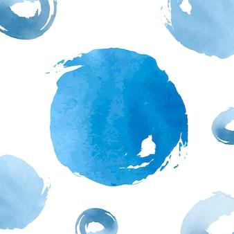 Pastelkleur blauwe waterverf achtergrondvector