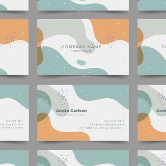 Pastelkleur gekleurde vlekken abstract visitekaartje sjabloon
