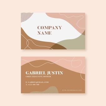 Pastelkleur gekleurde vlekken voor visitekaartje concept