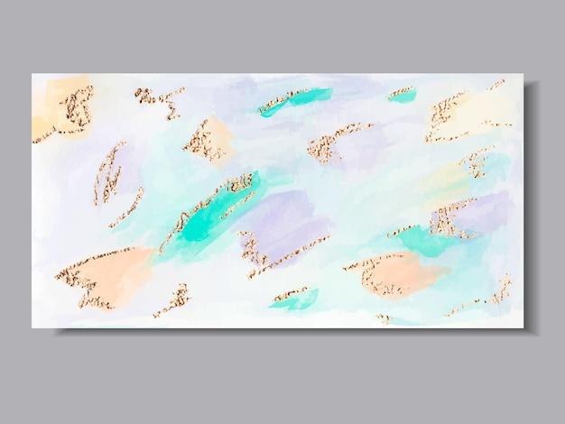 Pastelkleur penseelstreek ontwerp met gouden strepen sjabloonontwerp omslag boekdruk zakelijke auto...