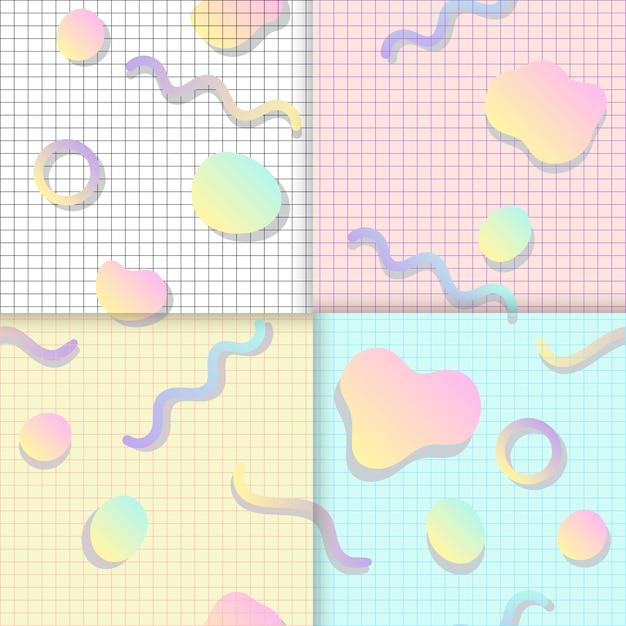 Pastelkleurachtergronden voor blogsvectoren