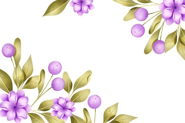 Pastelkleuren aquarel bloemen achtergrond