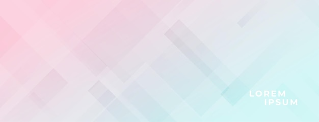 Pastelkleuren elegant licht bannerontwerp