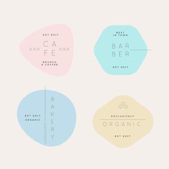 Pastelkleuren minimale logo-collectie