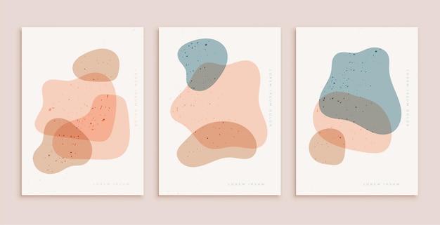 Pastelkleuren postersjabloon in eigentijdse esthetische stijl