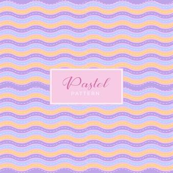 Pastelkleurig patroon met decoratie