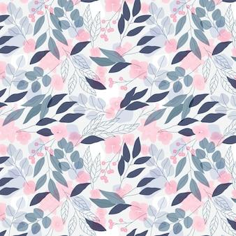 Pastelkleurige bloemen naadloze patroon sjabloon