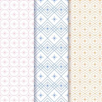 Pastelkleurige minimale geometrische patroonsjabloon
