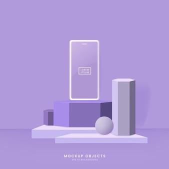 Pastelkleurige mobiele mockup-achtergrond