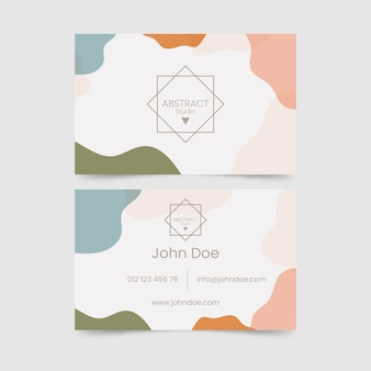 Pastelkleurige vlekken voor visitekaartjes