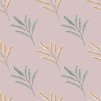Pasteltinten eenvoudig laat takken naadloos patroon