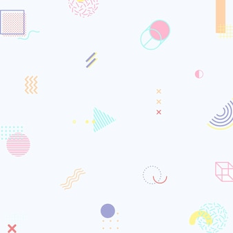 Pasteltoon memphis patroon sociale sjabloon vector