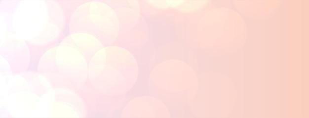 Paster perzik kleur bokeh licht banner