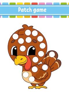 Patchspel voor kinderen. doe een dot kleurplaat.