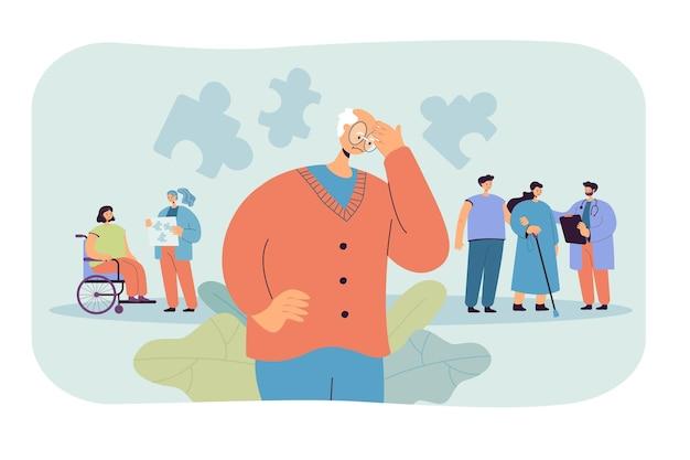 Patiënten met de ziekte van alzheimer Gratis Vector
