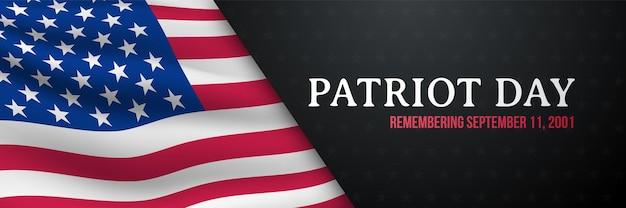Patriot dag horizontale banner