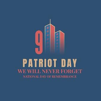 Patriot dag ontwerp