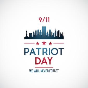 Patriot day achtergrond.