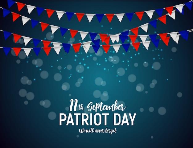 Patriot day usa achtergrond. 11 september zullen we nooit vergeten ...