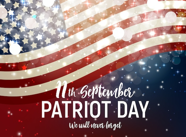 Patriot day usa poster achtergrond. 11 september
