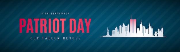 Patriot day verjaardag banner.