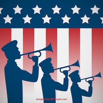 Patriottische trompet salute