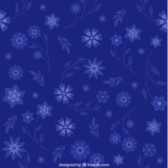 Patrón de flores azules