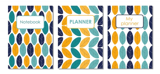Patronen van covers voor een notebook