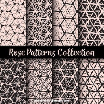 Patronen van geometrische decoratieve rozen