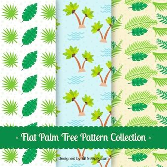 Patronen van palmbomen en bladeren