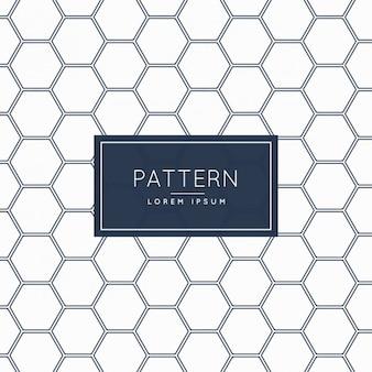 Patroon achtergrond zeshoekige vorm