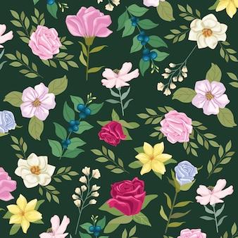 Patroon bloemen tuin